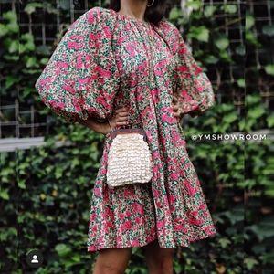 🔥Last 2🔥ZARA Floral Puff sleeves mini dre